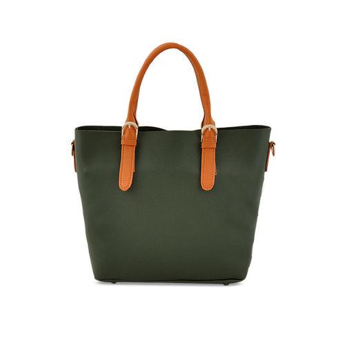 LaFille Green Solid Handheld Bag
