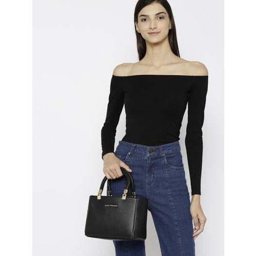 Lino Perros Black Solid Handheld Bag