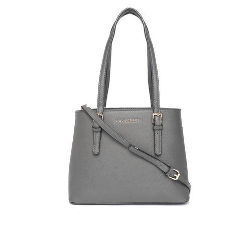 Lino Perros Charcoal Grey Solid Shoulder Bag