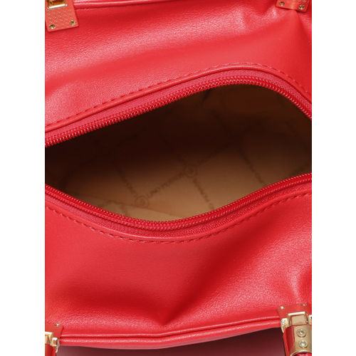 Lino Perros Red Solid Handheld Bag