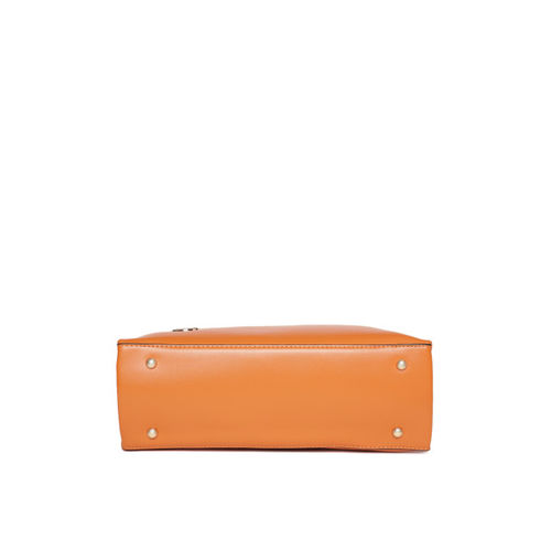 United Colors of Benetton Mustard Yellow Solid Handheld Bag