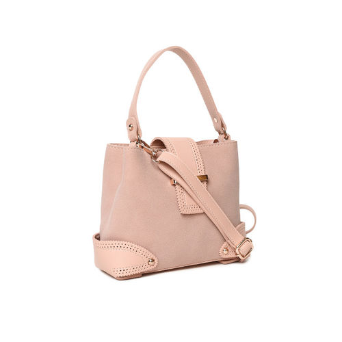 People Pink Solid Handheld Bag