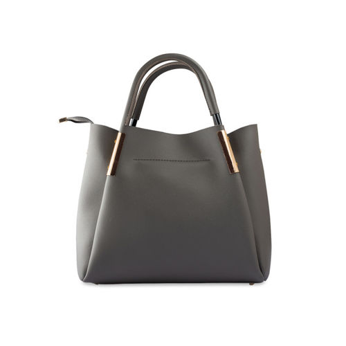 LEGAL BRIBE Women Grey Solid Handheld Bag