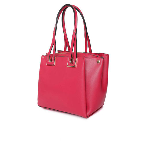 DressBerry Magenta Solid Shoulder Bag