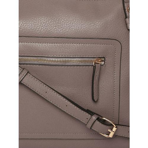 Accessorize Taupe Solid Shoulder Bag