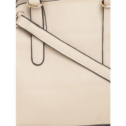 DressBerry Beige Solid Handheld Bag