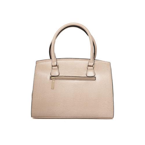 United Colors of Benetton Beige Snakeskin Textured Handheld Bag