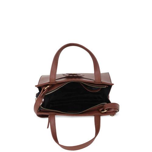 yelloe Brown Solid Handheld Bag
