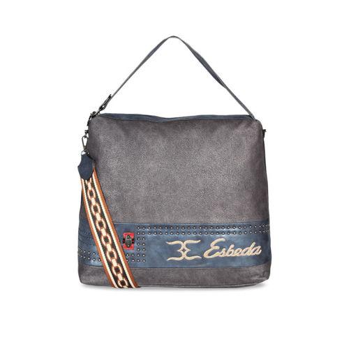 ESBEDA Women Grey Solid Hobo Bag