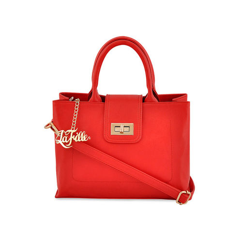 LaFille Red Solid Handheld Bag