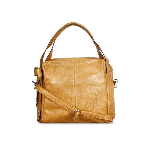 Lychee bags Beige Solid Handheld Bag