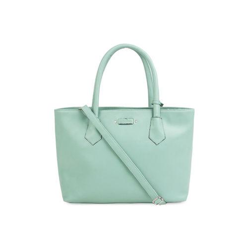 Toteteca Green Solid Handheld Bag