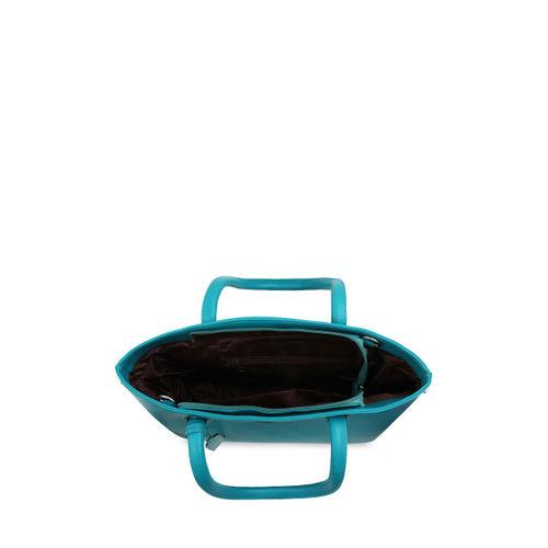 Toteteca Turquoise Blue Solid Handheld Bag