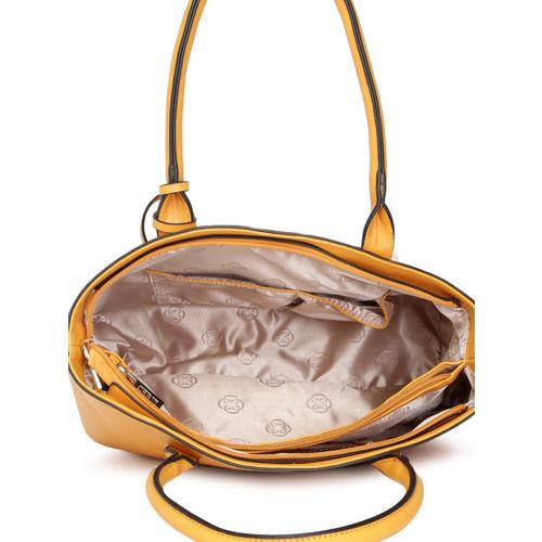 CERIZ Yellow Solid Shoulder Bag