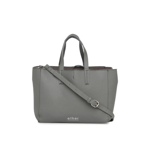ether Grey Solid Handheld Bag
