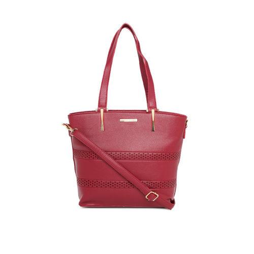 CERIZ Maroon Solid Shoulder Bag