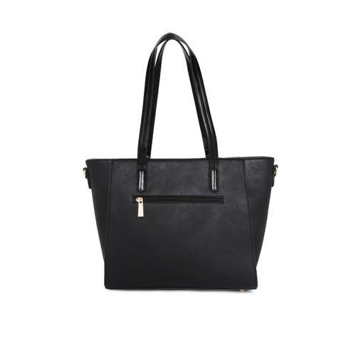 CERIZ Black Solid Shoulder Bag