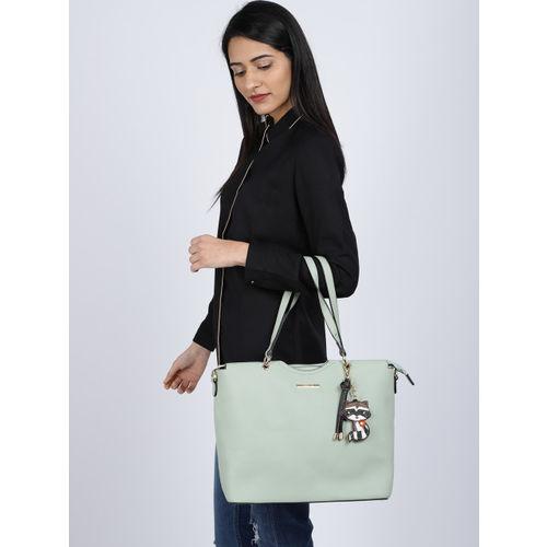CERIZ Sea Green Solid Shoulder Bag
