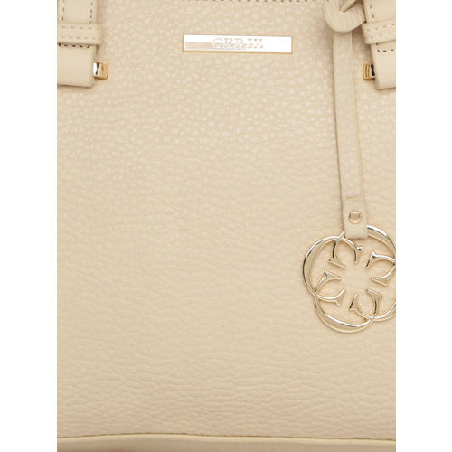CERIZ Cream-Coloured Solid Shoulder Bag