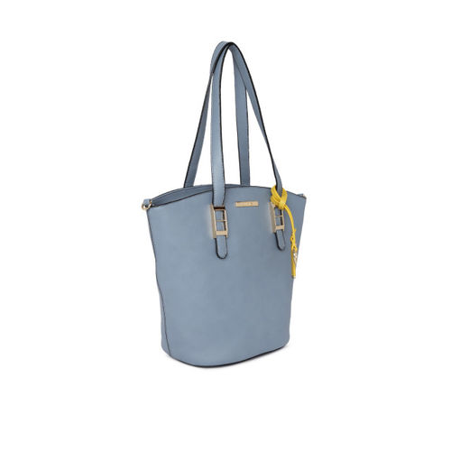 CERIZ Blue Solid Shoulder Bag