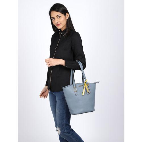CERIZ Blue Solid Shoulder Bag