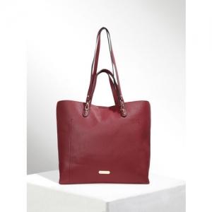 CORSICA Maroon Solid Handheld Bag