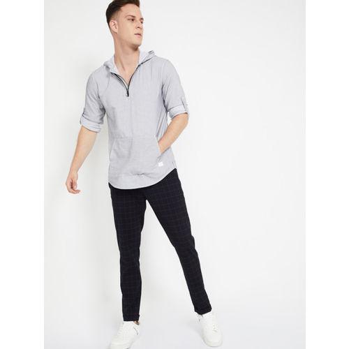 Bossini Men Grey Regular Fit Printed Casual Shirt