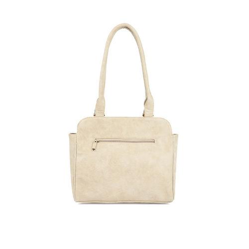 DressBerry Khaki Solid Shoulder Bag