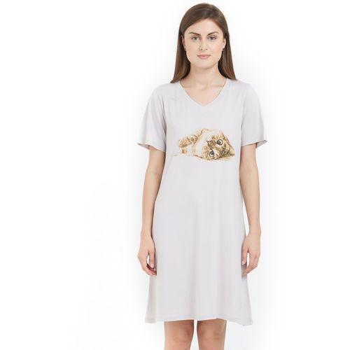 Soie Women Nightshirts(Grey)