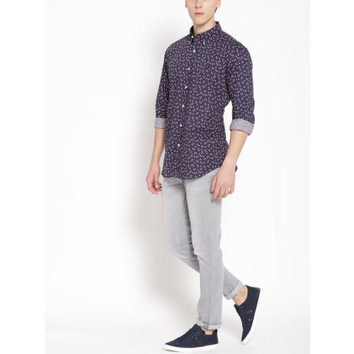 Polo Ralph Lauren Men Navy Blue & White Regular Fit Printed Casual Shirt