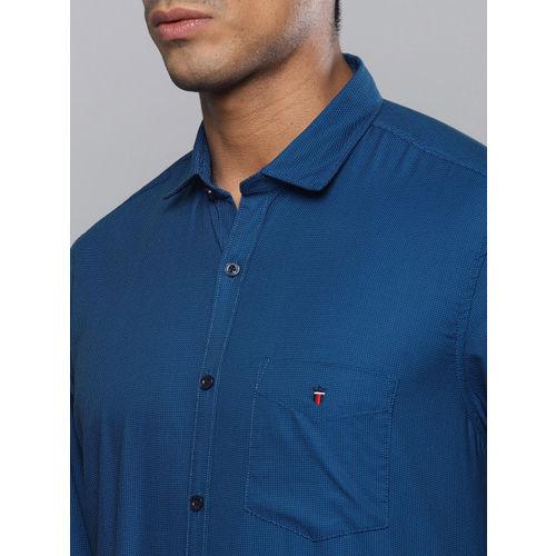 Louis Philippe Sport Men Blue Slim Fit Self Design Casual Shirt