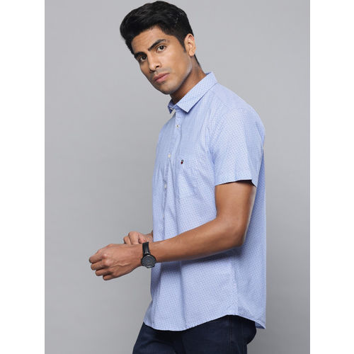 Louis Philippe Sport Men Blue Slim Fit Printed Casual Shirt