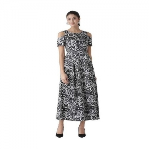 The Vanca Black & Grey Printed Maxi Dress