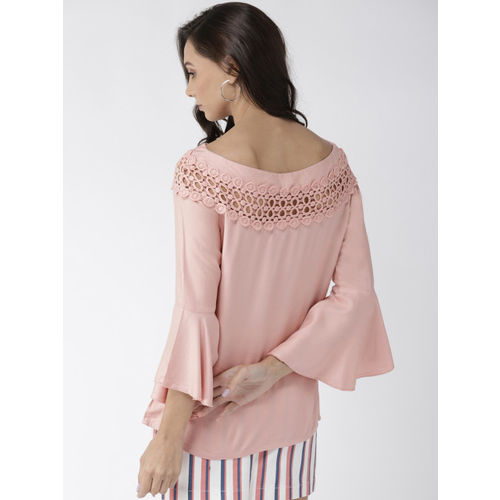 Style Quotient Women Peach-Coloured Solid Top