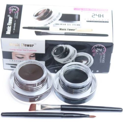 Music Flower Gel Eyeliner 6 g(BLACK & BROWN)