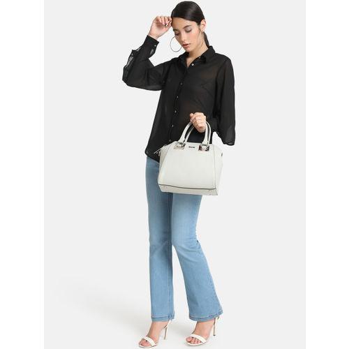 Kazo Women Black Regular Fit Solid Casual Shirt