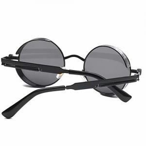 Vuhom Round Vintage Sunglasses Steampunk Man Lady Unisex sunglass for Men Women