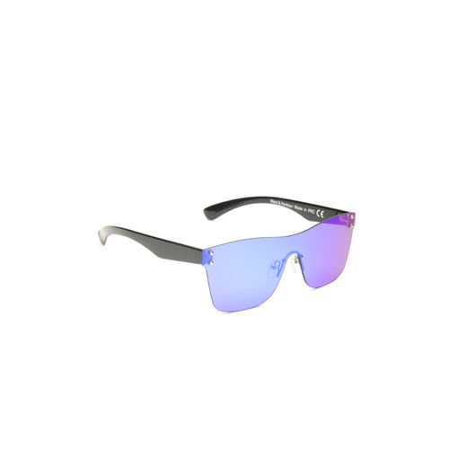 Mast & Harbour Unisex Mirrored Rimless Shield Sunglasses MFB-PN-PS-T9209