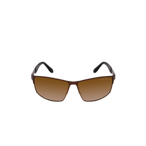 David Blake Unisex Brown Shield Sunglasses SGDB1476