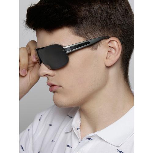 Fastrack Men Mirrored Shield Sunglasses NBP336SL2