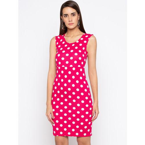 Globus Women Pink Printed Sheath Dress