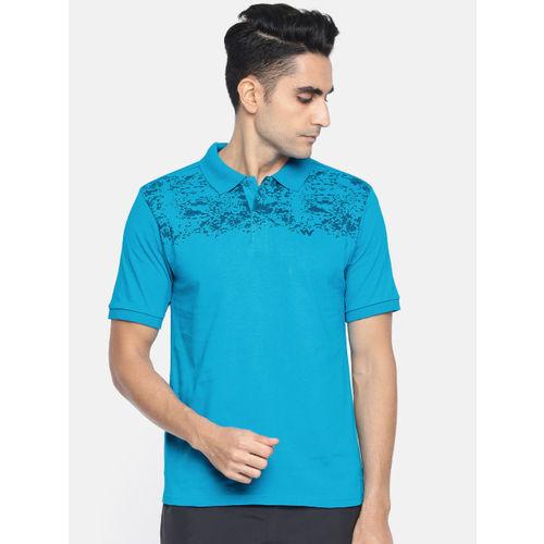 Wildcraft Men Blue Printed Polo Collar T-shirt