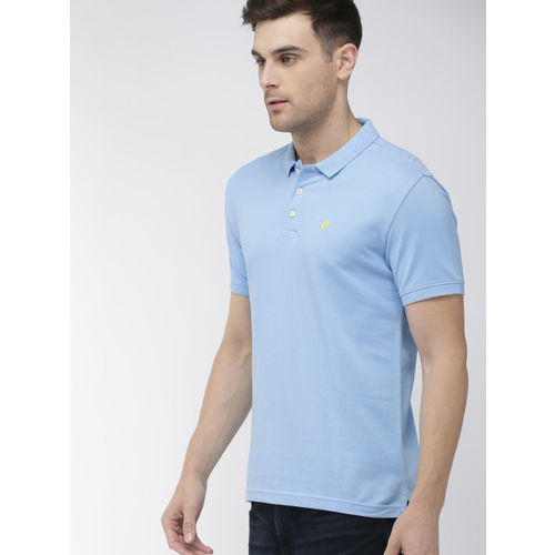Denizen From Levis Men Blue Solid Polo Collar T-shirt