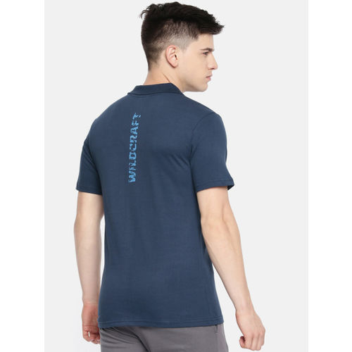 Wildcraft Men Navy Blue Solid Polo Off Active Polo 6 T-shirt