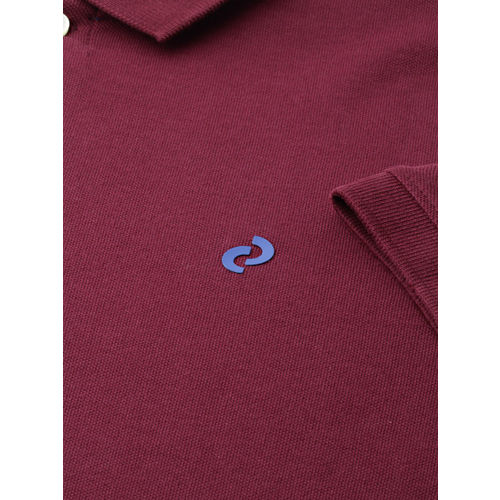 Denizen From Levis Men Burgundy Solid Polo T-shirt