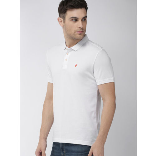 Denizen From Levis Men White Solid Polo T-shirt