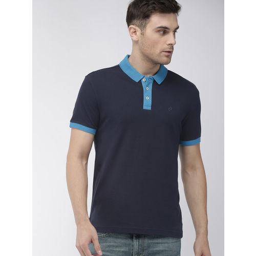 Denizen From Levis Men Navy Blue Solid Polo T-shirt