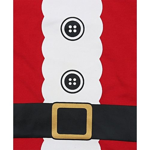 Awabox Full Sleeves Belt Design T-shirt and Bottom Set - Red