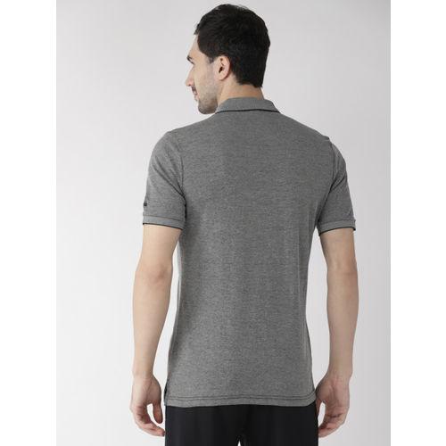 Alcis Men Charcoal Grey Rajasthan Royals Solid Polo Collar T-shirt