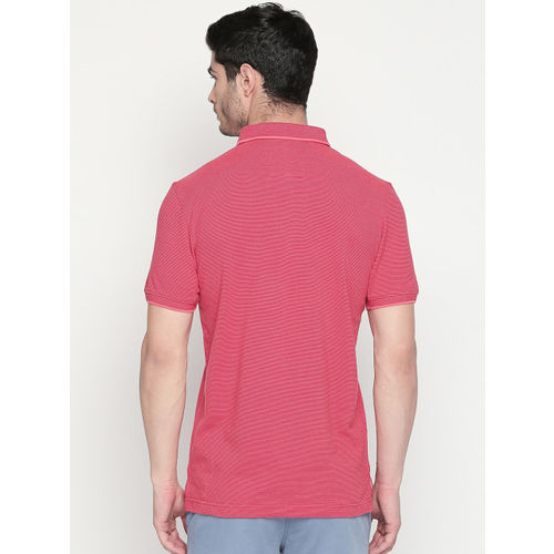 Urban Ranger by pantaloons Men Red Solid Polo Collar T-shirt